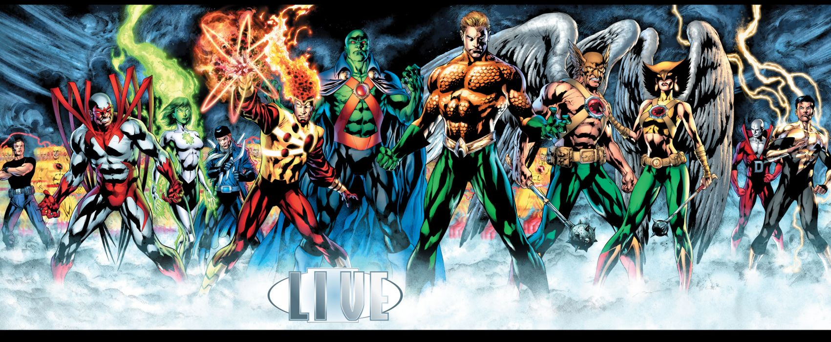 DC Aquaman superhero figures comics wallpaper