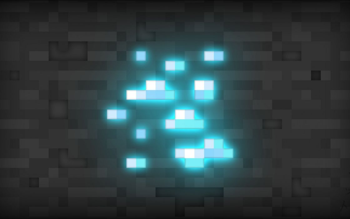 Minecraft video games abstract texture patterns squares lights 3d wallpaper
