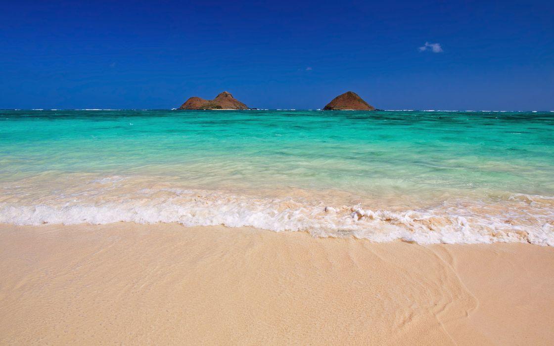 ocean sea nature beaches waves ocean sea isalnds sky tropical sand wallpaper
