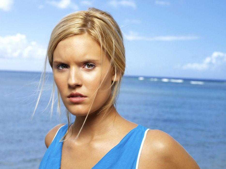 Maggie Grace actress ocean sea women blondes babes face eyes pov sky females wallpaper