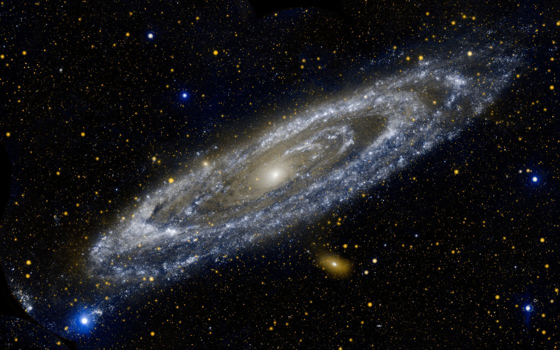 spiral sci-fi space galaxy stars universe wallpaper