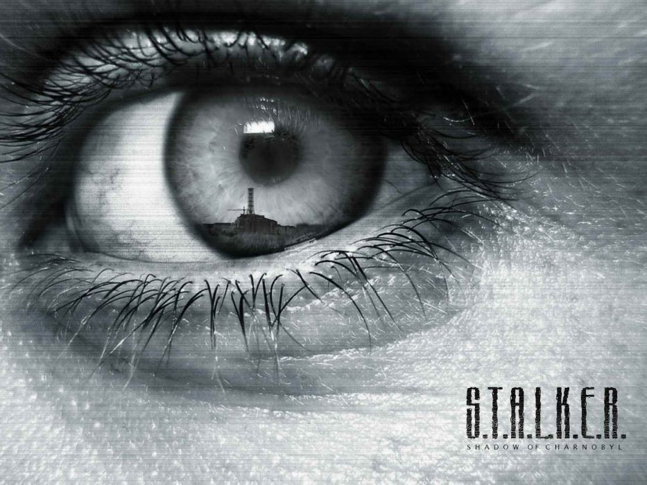 Stalker video games sci-fi face eyes pov dark architecture buildings post apocalyptic wallpaper