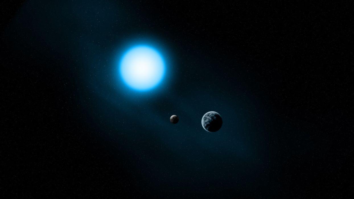sun stars sci-fi space universe planets moon dark wallpaper