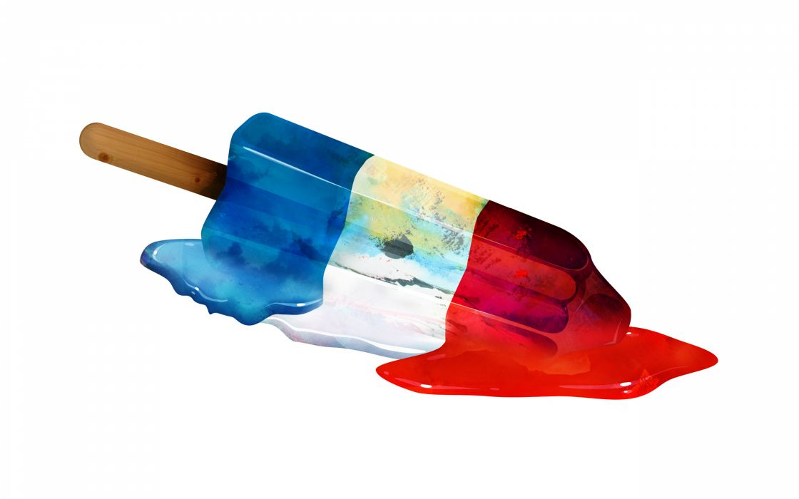 Popsicle vector art color red white blue summer melt stick liquid food sweets wallpaper