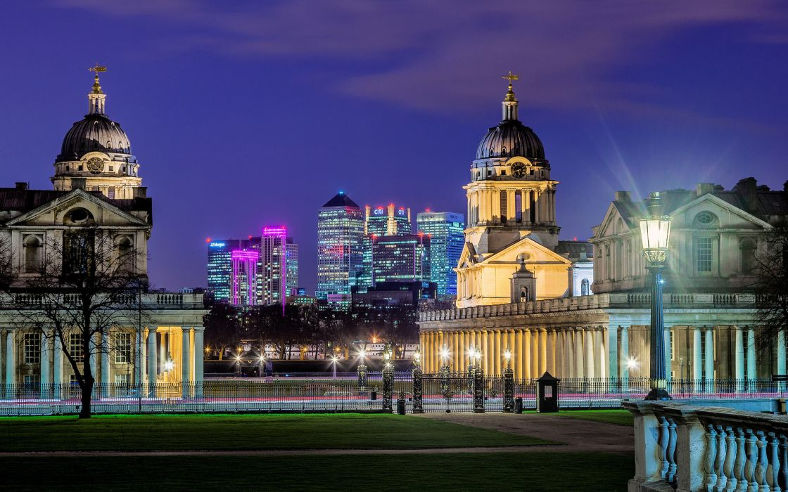 Royal Greenwich Observatory london england architecture buildings night lights lamp park world places cities skyscraper skyline cityscape wallpaper