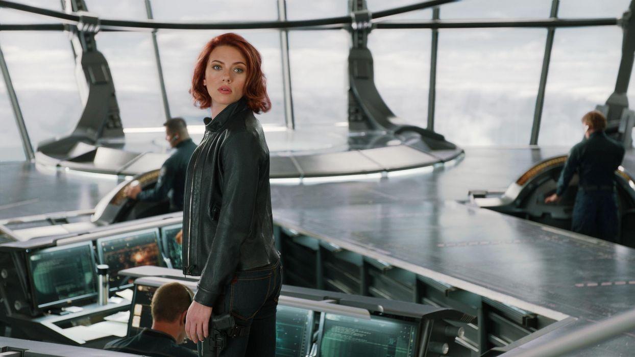 Scarlett Johansson The Avengers comics superhero women females babes actress face  f wallpaper