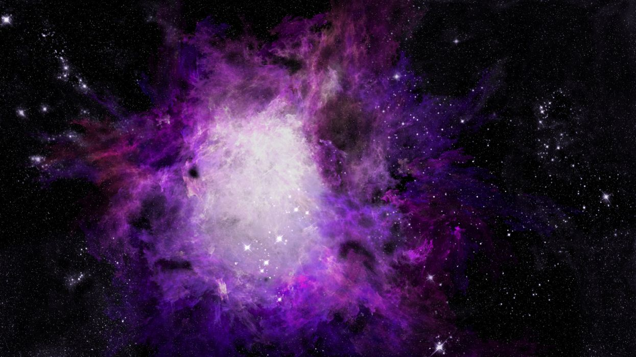 sci-fi space universe nebula stars wallpaper
