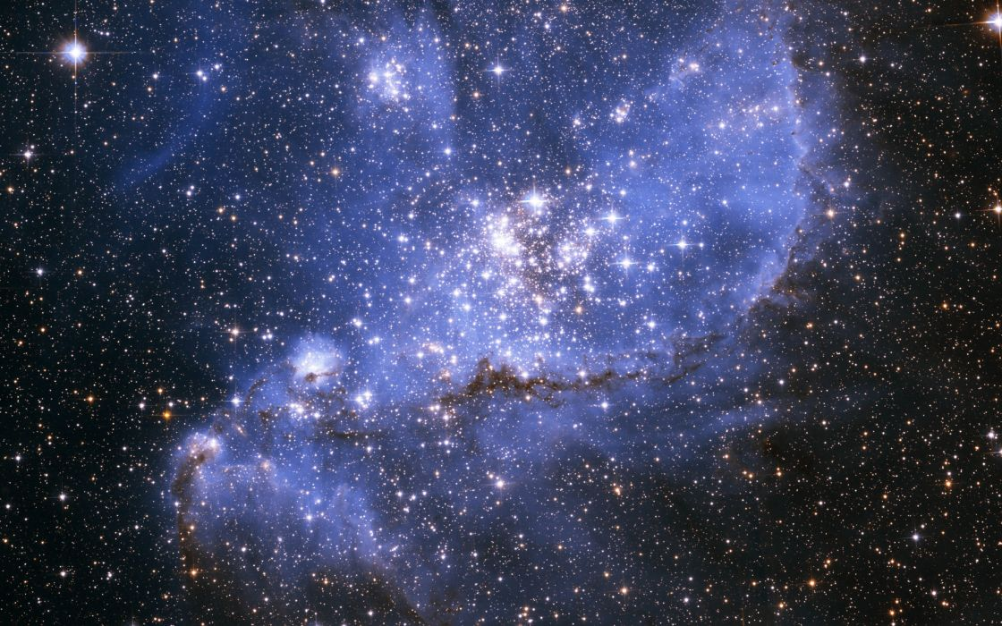 sci-fi space universe stars nebula light dust cluster wallpaper