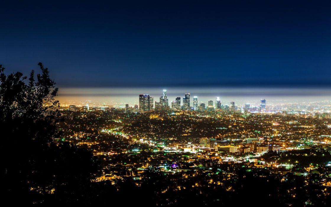 USA California Los Angeles cities night lights hdr sky cityscape skyline architecture buildings skyscraper wallpaper