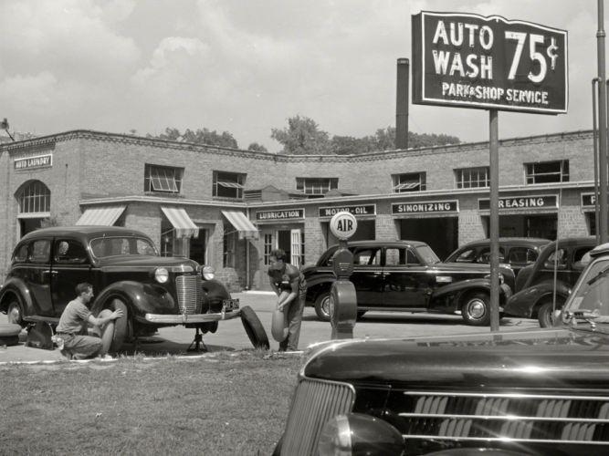 Washington dc bw mechanic classic car retro history for Washington dc department of motor vehicles