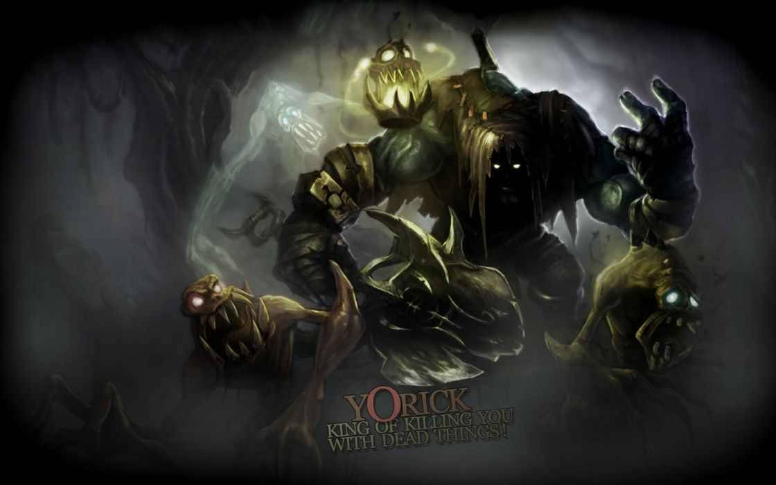 Yorick League of Legends fantasy dark monsters creatures scary wallpaper