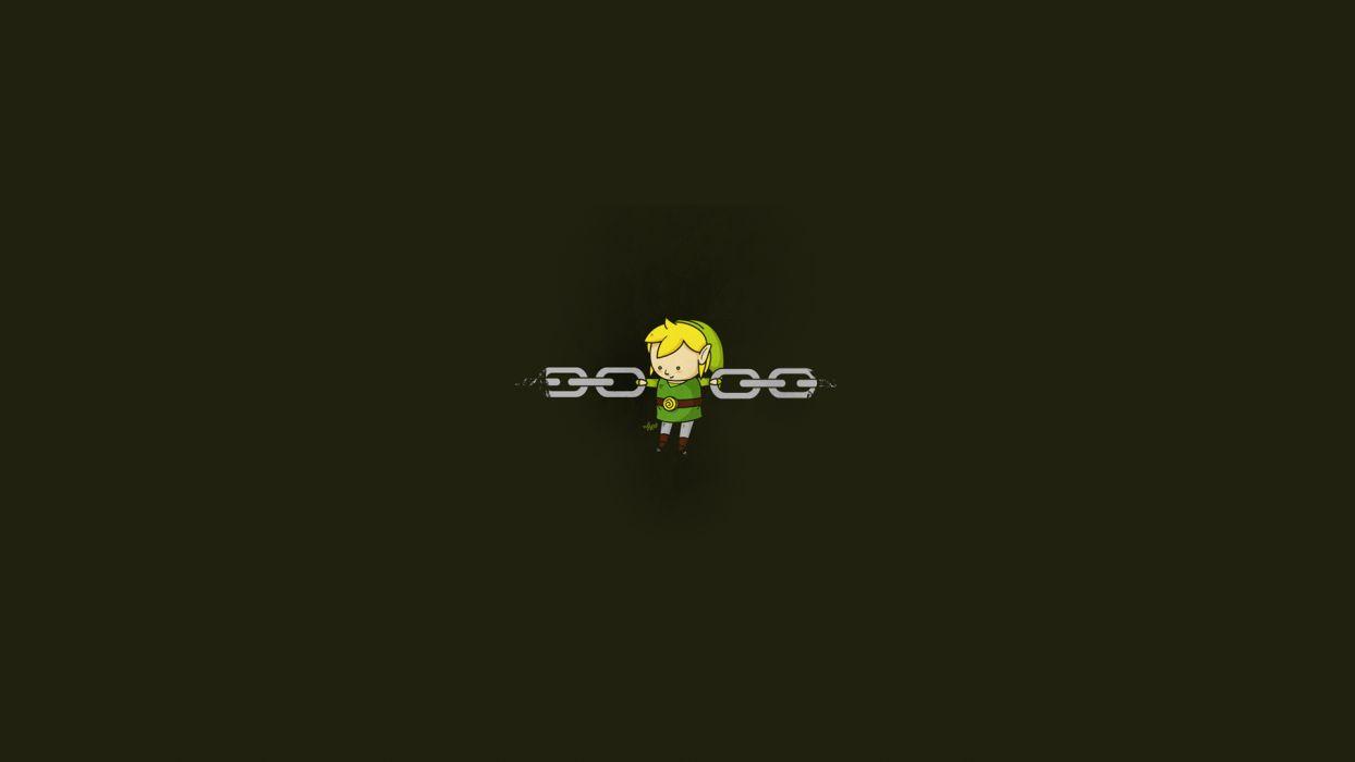 Zelda Link Chain Minimal video games cartoon figure chains vector wallpaper