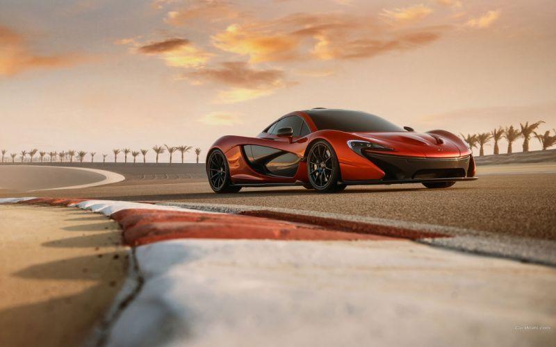 Track McLaren P1 Race supercars wallpaper