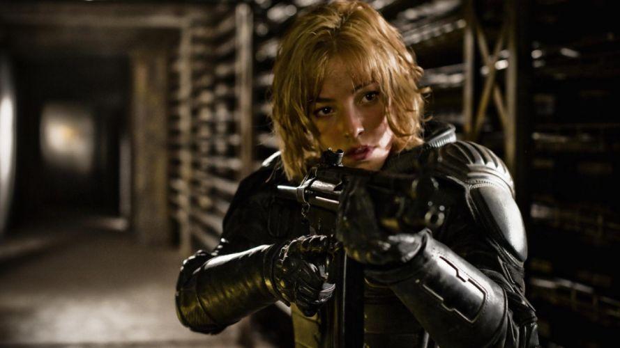 Dredd movies action weapons guns wallpaper