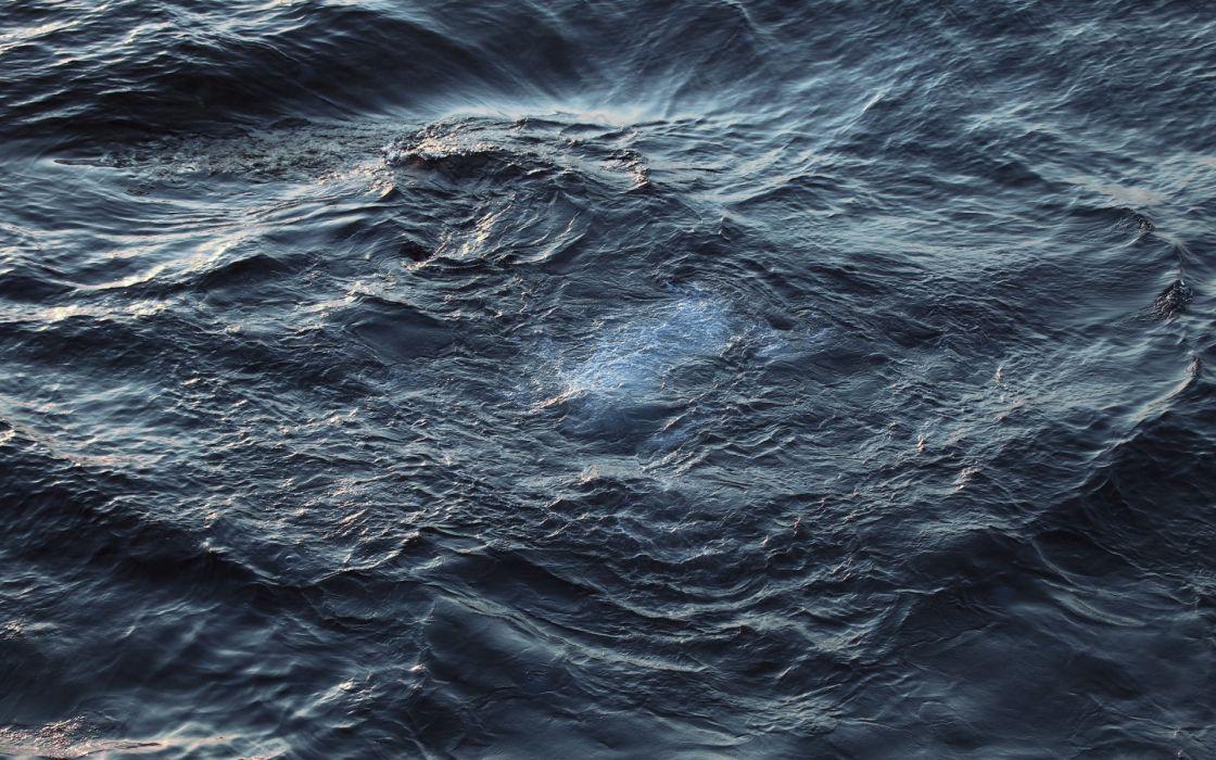 Whirlpool ocean sea water waves swirl wallpaper