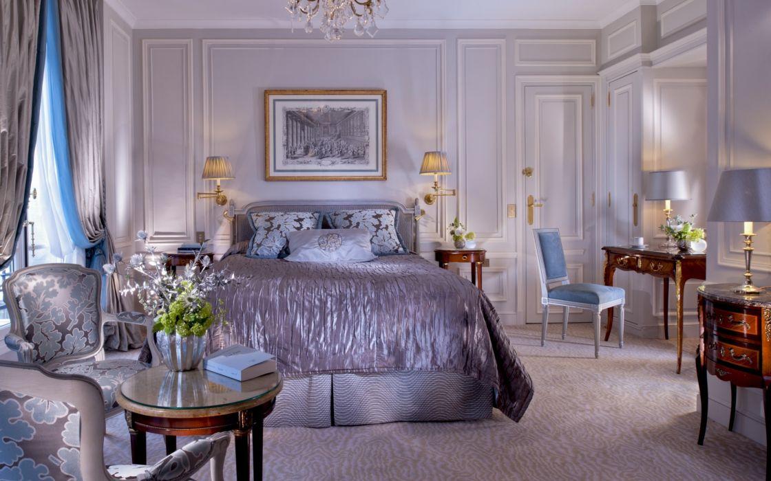 interior design bedroom room furniture wallpaper