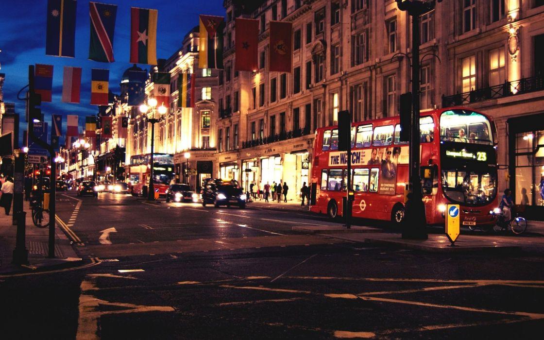 London England Great Britain cities architecture buildings roads bus wallpaper