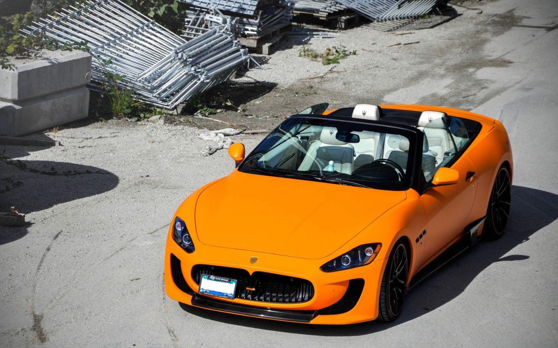 Maserati sportscars tuning orange wallpaper