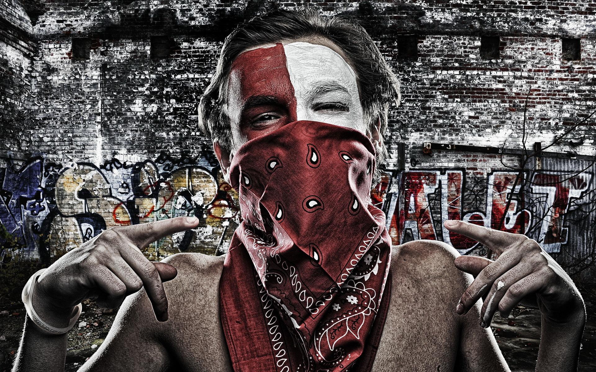 Bandana Eye Mask Men Males Urban Mask Bandana