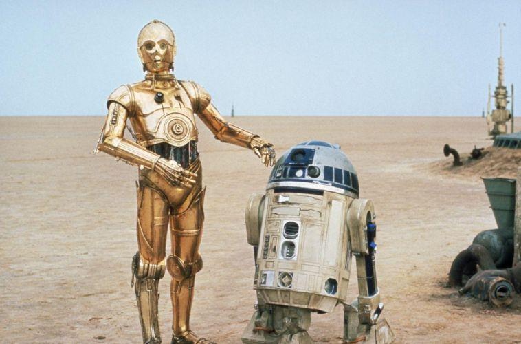 Star Wars sci-fi movies futuristic robots wallpaper