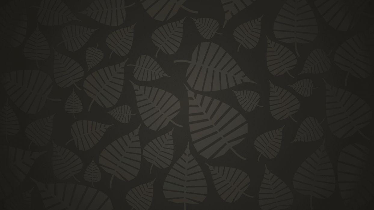 nature leaves abstract vector dark wallpaper