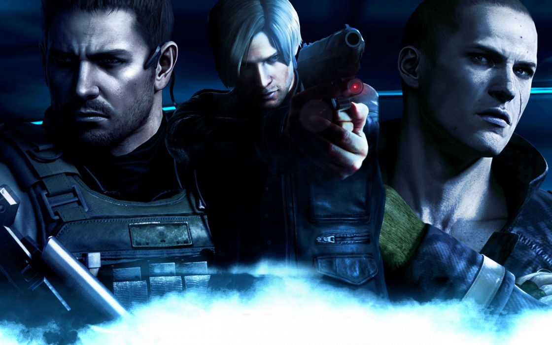 Resident Evil 6 Chris Redfield Leon Scott Kennedy Dark Wallpaper