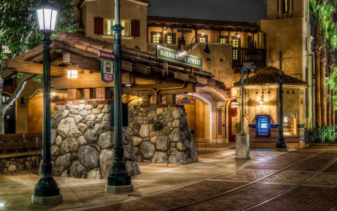 USA Disneyland California architecture buildings hdr wallpaper