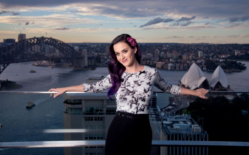 Katy Perry singer music actress celebrity women females brunettes sexy babes cities world scenic face eyes pov wallpaper