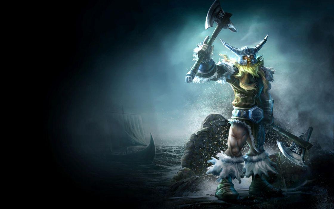 League Of Legends Fantasy Art Warriors Weapons Axe Vikings