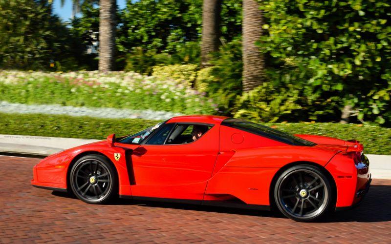 Ferrari Enzo supercars red wallpaper