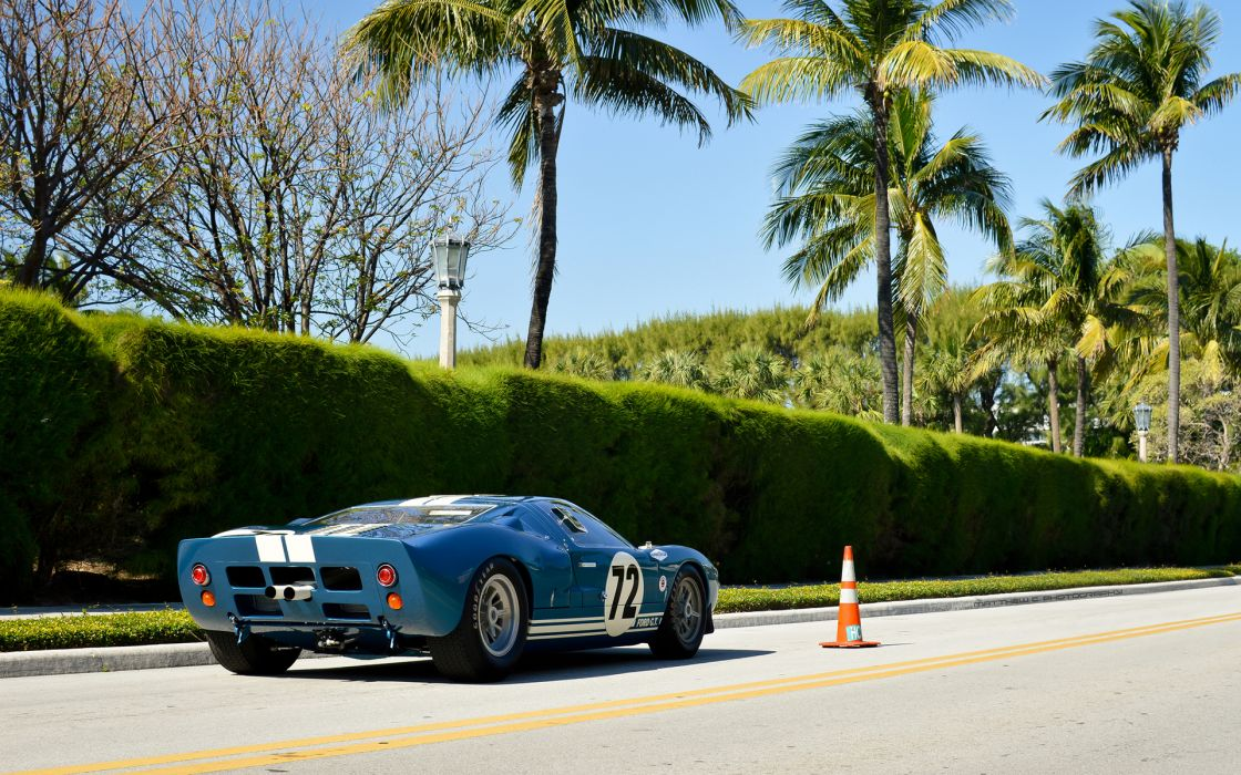 Ford GT40 supercars race cars classic muscle cars roads blue wallpaper