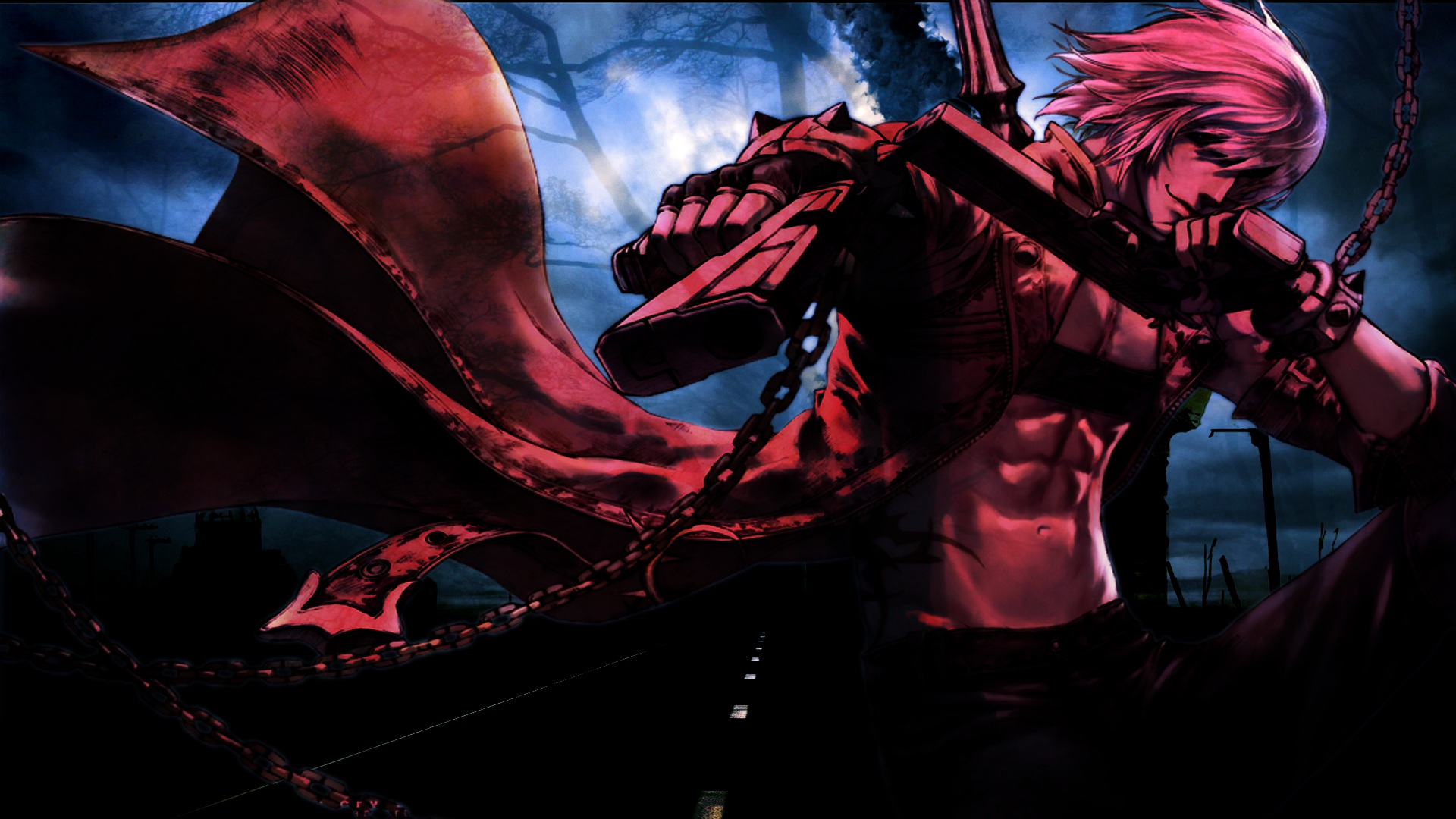 Devil May Cry Dante Wallpaper: Devil May Cry Weapons Guns Warrior Wallpaper