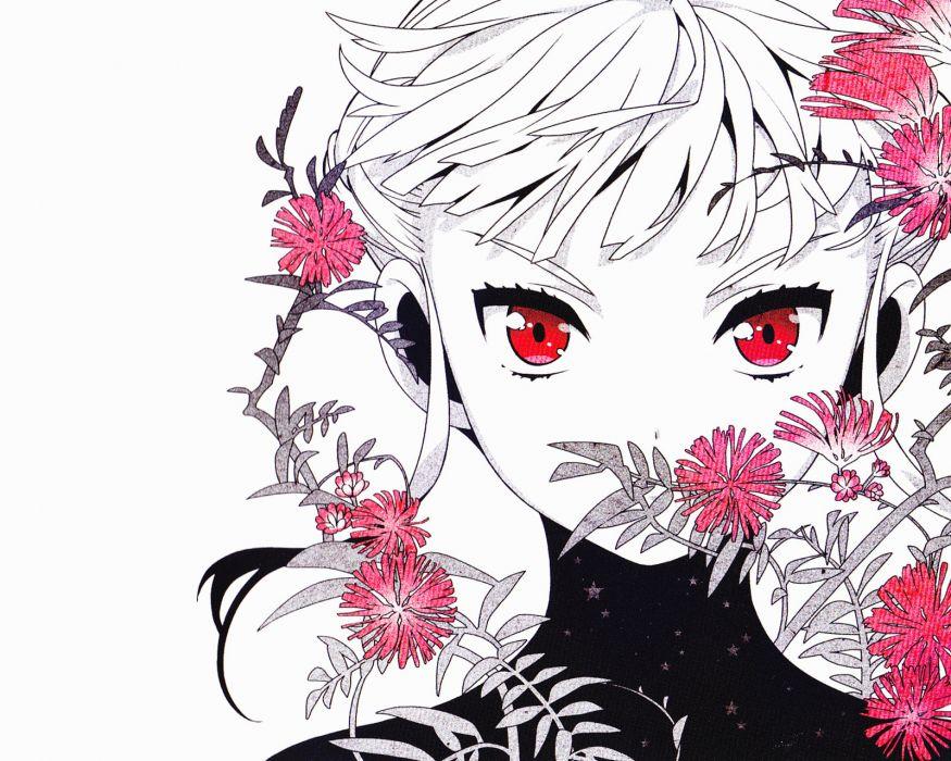 euphoria girl face eyes flowers wallpaper