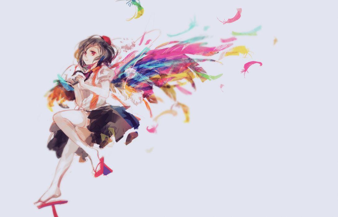 touhou girl angel wallpaper