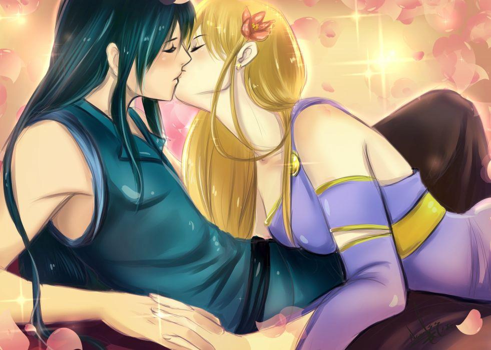 original anime love romance kiss mood girl boy men males women females sexy babes mood emotion wallpaper