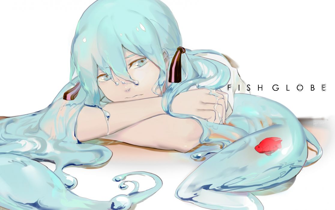 vocaloid girl fishes wallpaper