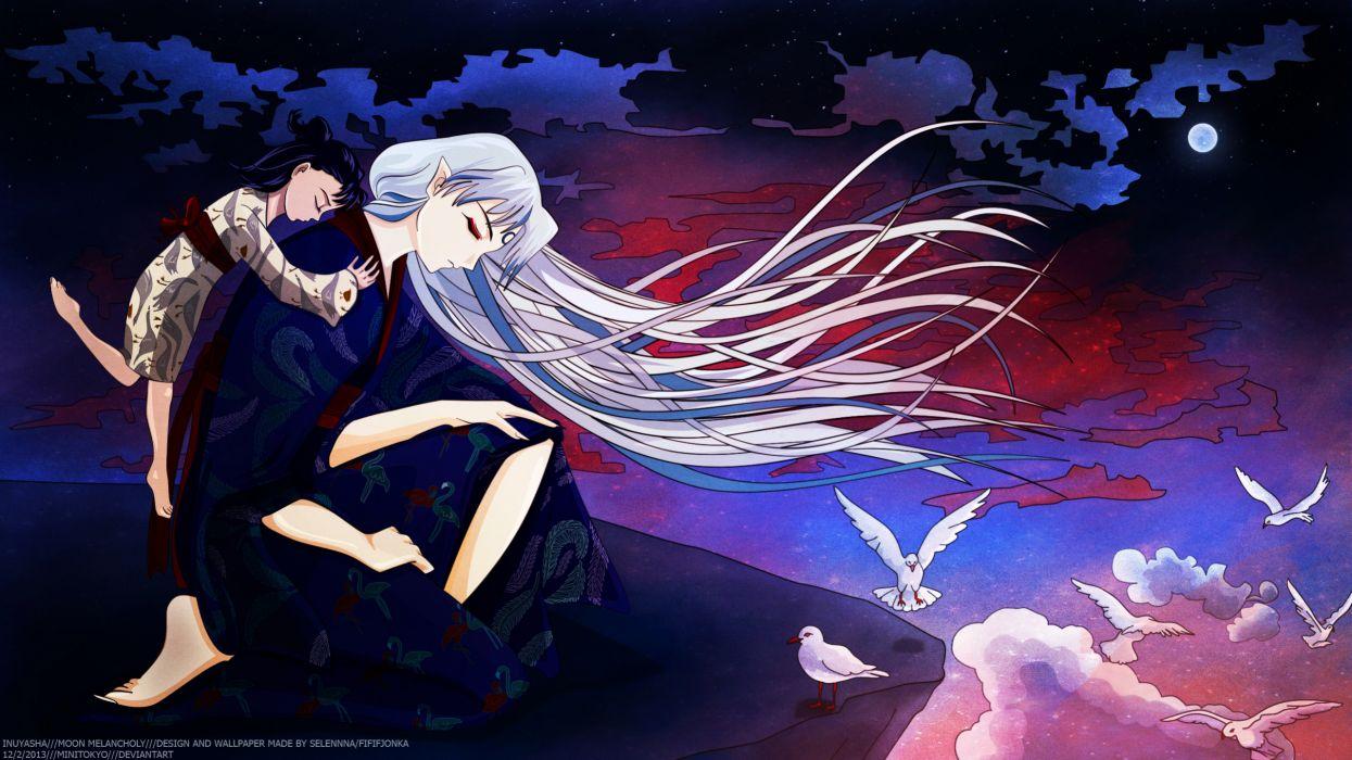 Inuyasha Rin Inuyasha Sesshoumaru love romance mood emotion boy girl wallpaper