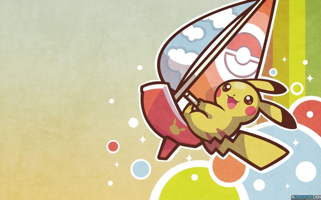 Pokemon Pikachu boat sailing wallpaper