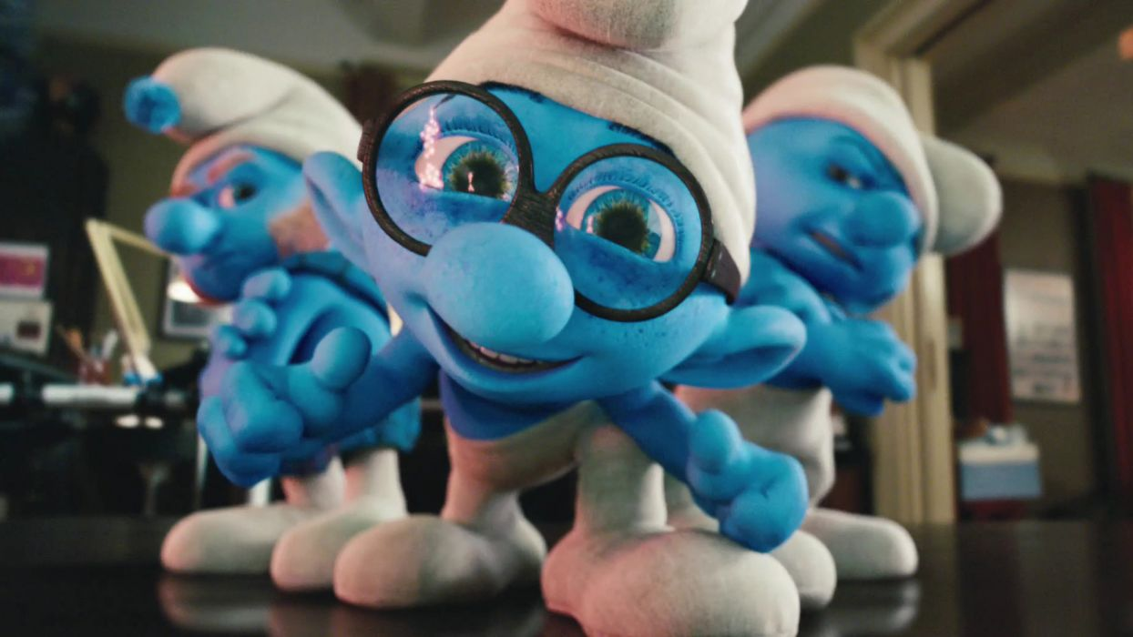 smurfs cartoon face eyes glasses pov toys wallpaper