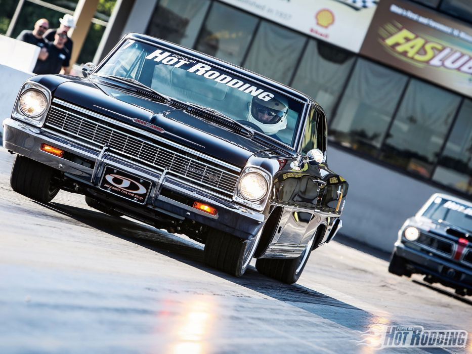 1966 Chevy Nova SS-badge drag racing race car muscle hot rod wallpaper