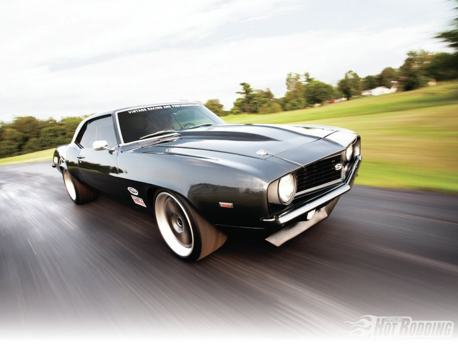 1969 Chevrolet Camaro SS-Badge muscle cars hot rod wallpaper