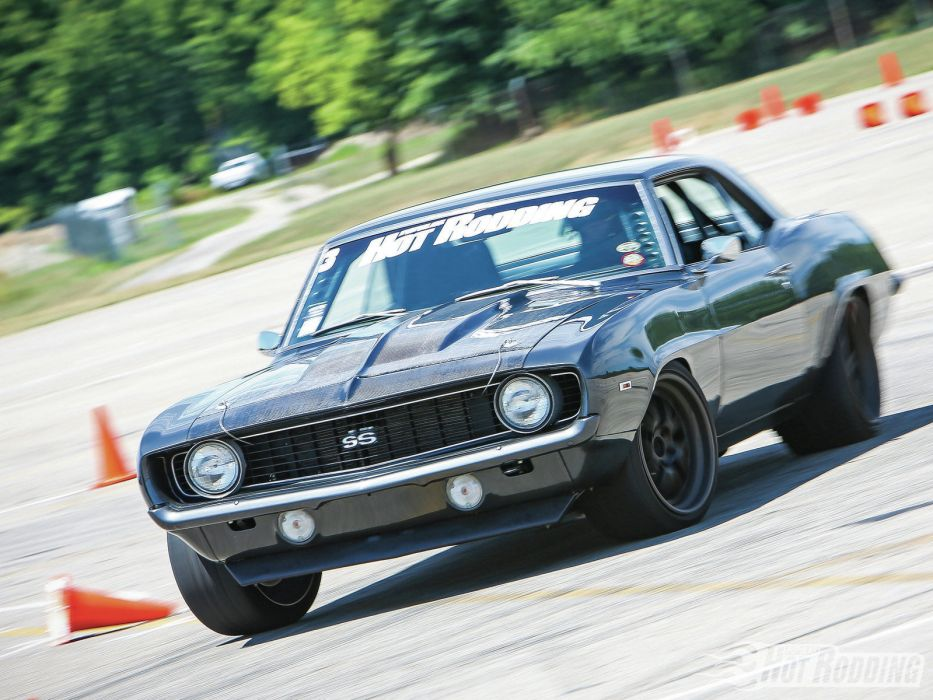 1969 Chevrolet Camaro SS-Badge muscle cars hot rods racing race track wallpaper