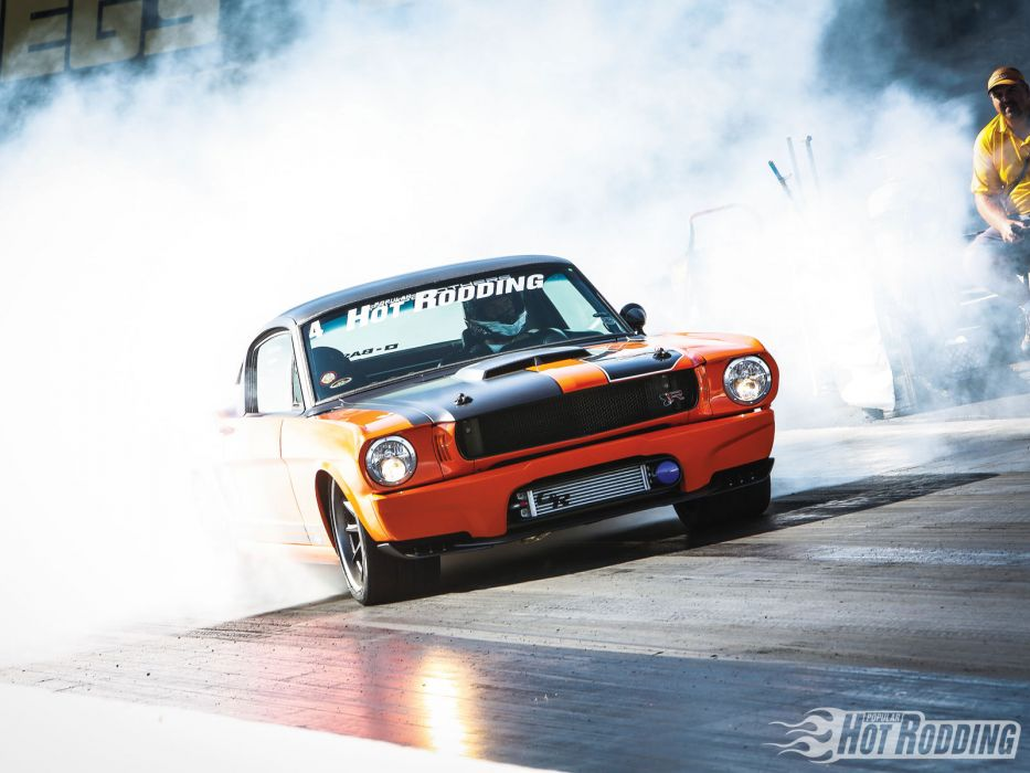 1965 Ford Mustang racing race track muscle hot rods drag racing burnout wallpaper