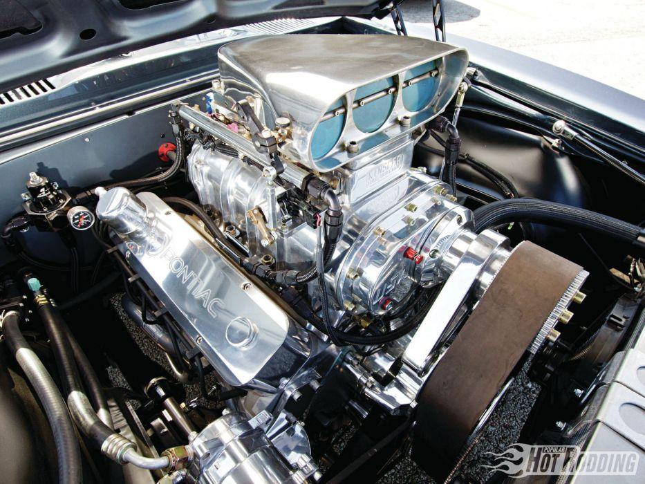1967 Pontiac Firebird Muscle Cars Hot Rods Engine Blower Wallpaper
