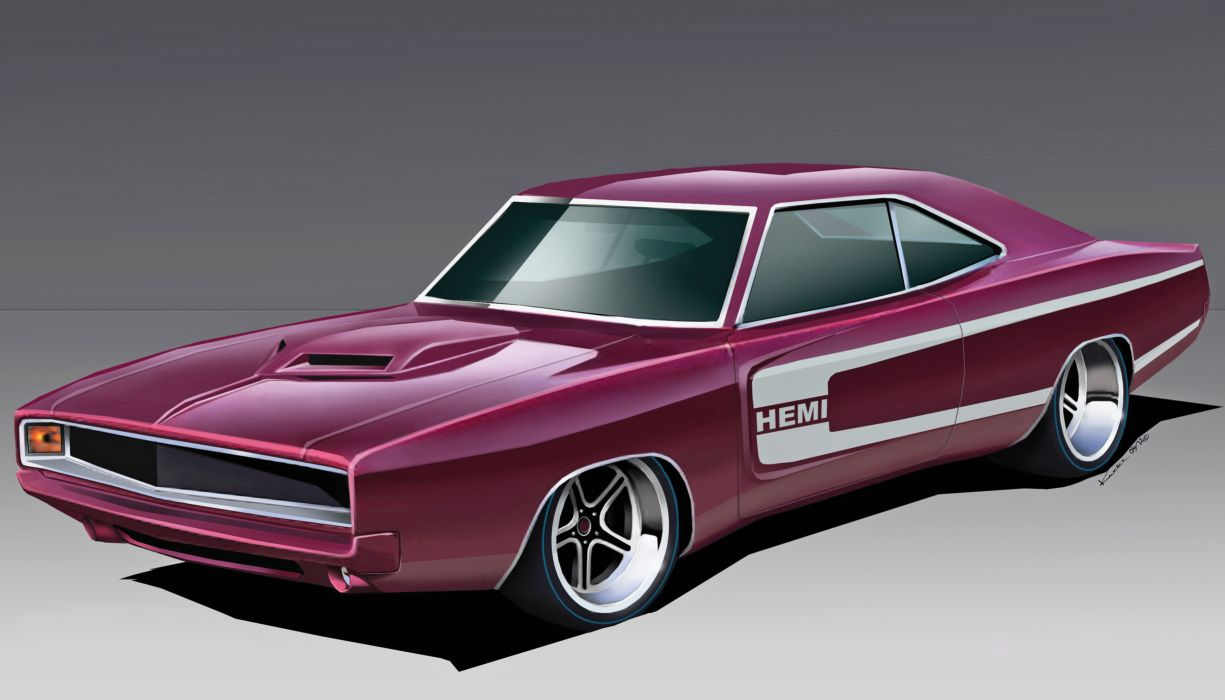 1968 Dodge Charger muscle cars hot rods     g wallpaper