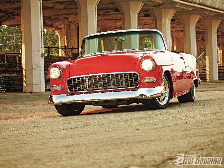 1955 Chevy Bel Air hot rods classic chevrolet wallpaper