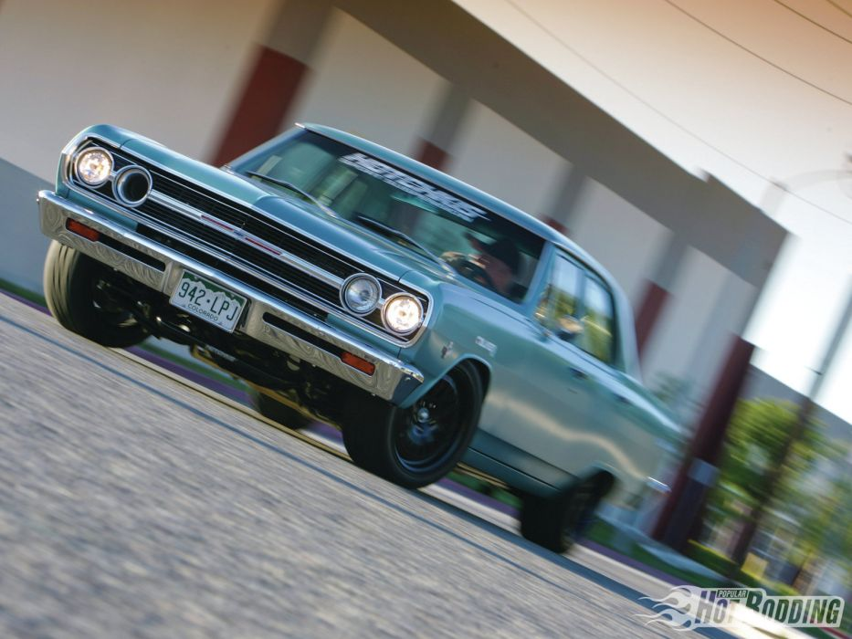 1965 Chevrolet Chevelle Sport Sedan chevy muscle cars hot rods     f wallpaper