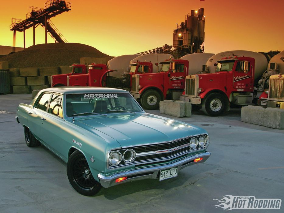 1965 Chevrolet Chevelle Sport Sedan chevy muscle cars hot rods wallpaper