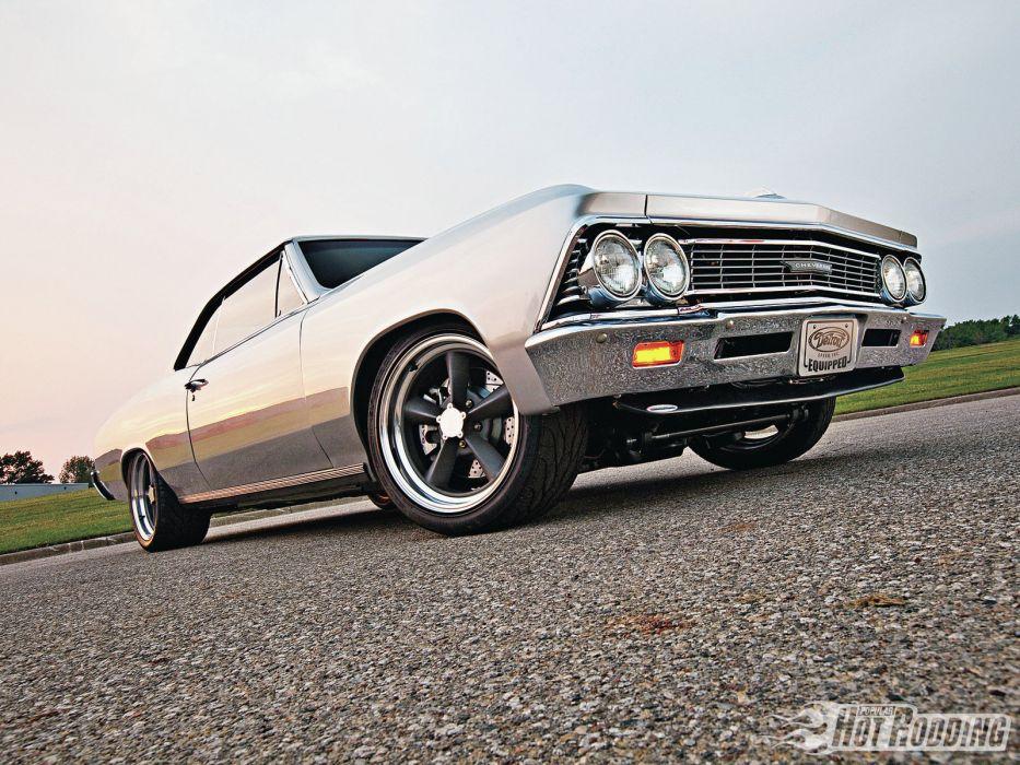 1966 Chevelle Malibu muscle cars hot rods      r wallpaper