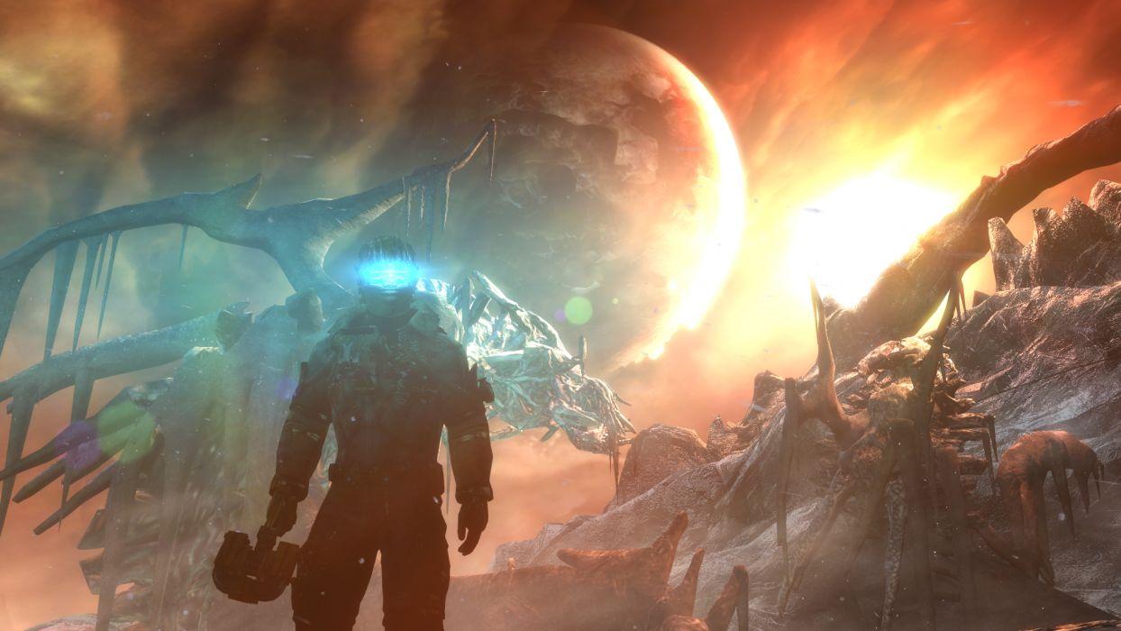 Dead Space sci-fi warrior futuristic wallpaper